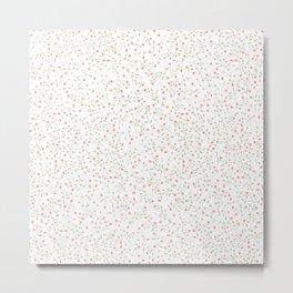 pink floral theme Metal Print