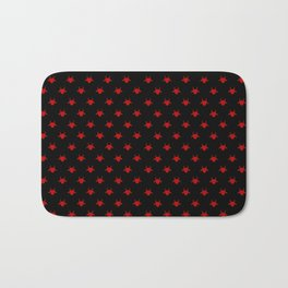 goat patterns black and red 1 Bath Mat