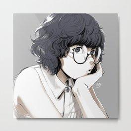 Glasses Metal Print