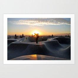 Sunset Skate Art Print