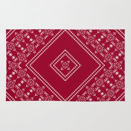 Red Christmas ornament Rug