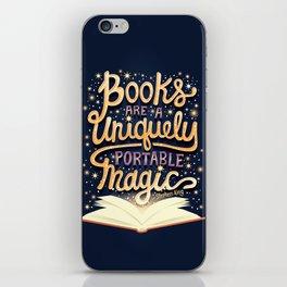 Books are magic iPhone Skin
