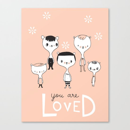 You are Loved - Pink Canvas Print