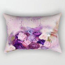 Vintag Bicycle and Flowers Rectangular Pillow