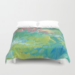 Blue Garden Duvet Cover