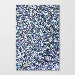 Blue Glittering Sequins Canvas Print