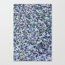 Blue Glittering Sequins Canvas Print
