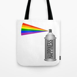 Happiness Spray Can - Rainbow Tote Bag