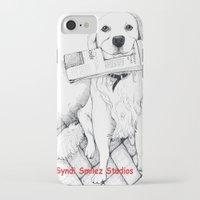golden retriever iPhone & iPod Cases featuring Golden Retriever Morning by Syndi Smilez Studios