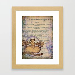Midsummer Night Fairy Framed Art Print