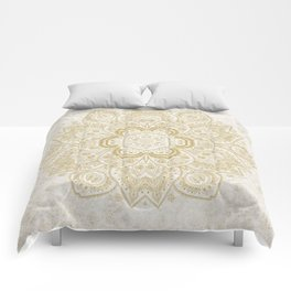 Mandala Temptation in Golden Yellow Comforters