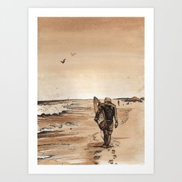 Coffee Art- Surf Art Print