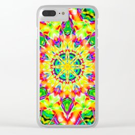 Abstract Flower AA YY B Clear iPhone Case