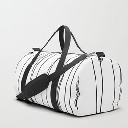 Polka Dot Pins (White) Duffle Bag
