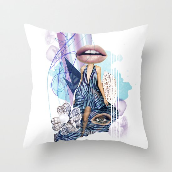 Zebra Kiss Throw Pillow