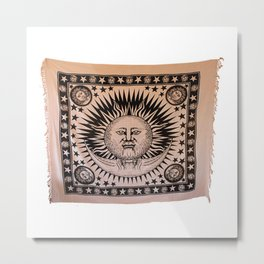 Sun and Moon Tapestry Metal Print