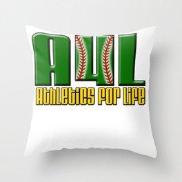 Oakland A's Shirt Design Throw Pillow