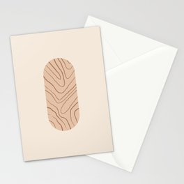 DATE AND TIME - Hand drawn modern abstract art Stationery Cards