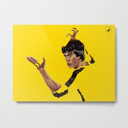 Game of Death Yellow Metal Print