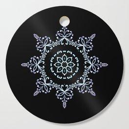 winter star hand drawn kaleidoscope Mandala Cutting Board