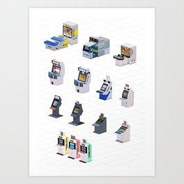Capcom Arcade Cabinets Art Print