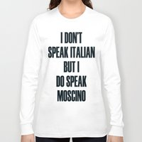moschino Long Sleeve T-shirts featuring Moschino by cvrcak