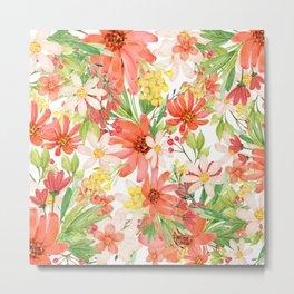 Summer Flowers Collage Metal Print