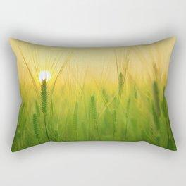 Barley Field Sunrise Rectangular Pillow