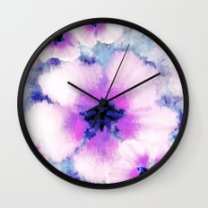 Rose of Sharon Bloom Wall Clock