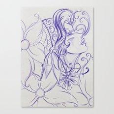Purple Mirror Gypsy Canvas Print