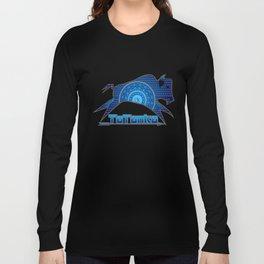 Buffalo Running (Blue) Long Sleeve T-shirt