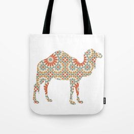 CAMEL SILHOUETTE WITH PATTERN Tote Bag