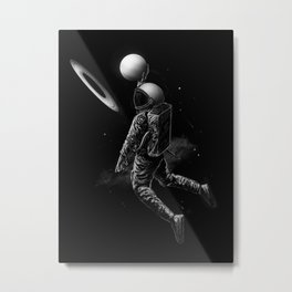 Saturn Dunk Metal Print