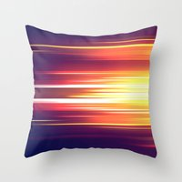 sonic Throw Pillows featuring Super Sonic by Emily Day