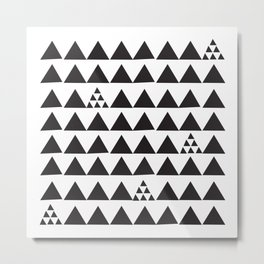 Black geometric print Metal Print