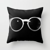 sunglasses Throw Pillows featuring Sunglasses by Abbey