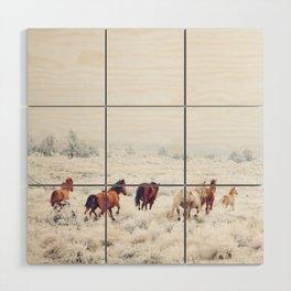 Winter Horses Wood Wall Art