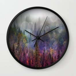 Four Seasons Forest Wall Clock