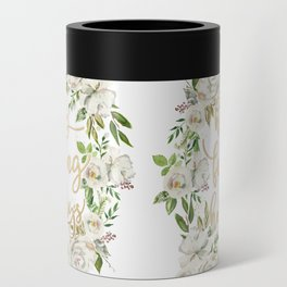 Happy fucking holidays with white flowers Can Cooler