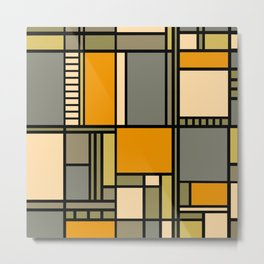 Frank Lloyd Wright Inspired Art Metal Print
