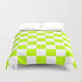 Checker (Lime/White) Duvet Cover