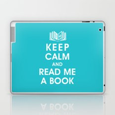 Keep Calm and Read Me A Book Laptop & iPad Skin