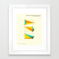 DISSECTION OF THE TRIANGULAR PRISM INTO 3 PYRAMIDS OF EQUAL VOLUME Framed Art Print