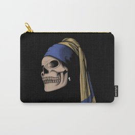 The Skull with a Pearl Earring Carry-All Pouch