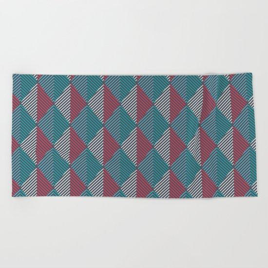Minimal Diamonds Beach Towel