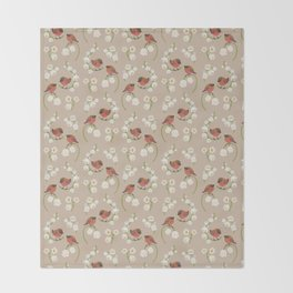 Brown-capped rosy finch Throw Blanket