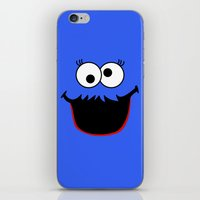 elmo iPhone & iPod Skins featuring Gimme Those Cookies Girl! by Alli Vanes