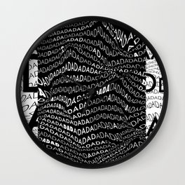 History of Art in Black and White. DADA Wall Clock