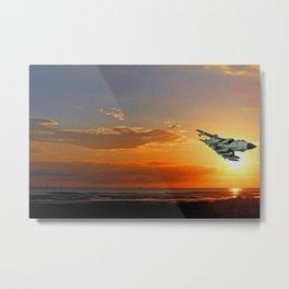 Tornado at Sunset (Digital Painting) Metal Print