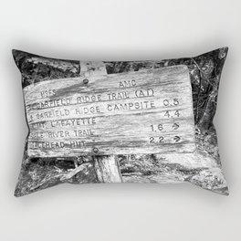 Black and White sign Rectangular Pillow
